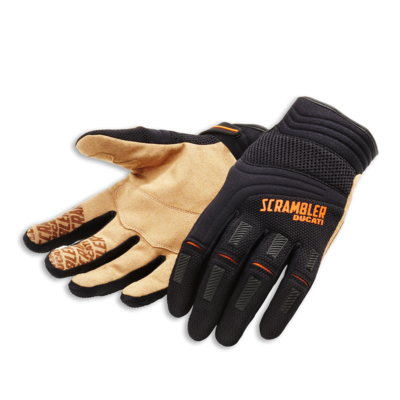 Gants Ducati Scrambler Overland Noir/Orange