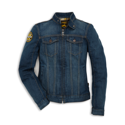 Blouson denim Ducati Scrambler Trucker Patch Femme