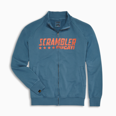 Sweat zippé Ducati Scrambler Blue Star