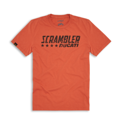 T-shirt Ducati Scrambler Orange Flip
