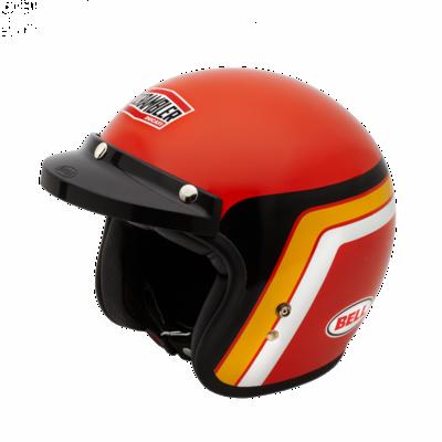 Casque jet Ducati Scrambler Orange Track