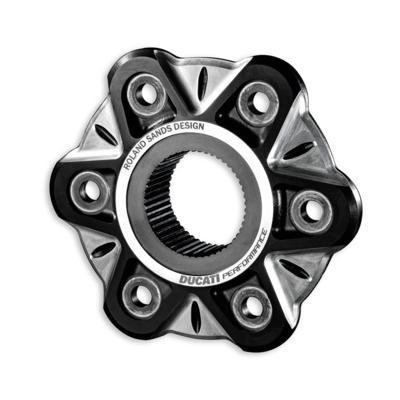 Bride de poulie de transmission en aluminium usiné dans la masse XDiavel