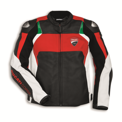 Blouson en cuir Ducati Corse C3 Rouge