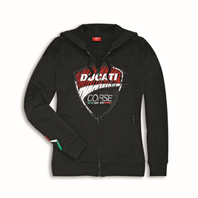 Sweat zippé à capuche Ducati Corse Sketch Femme