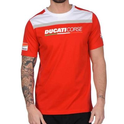 T-shirt Ducati Corse Rouge/Blanc