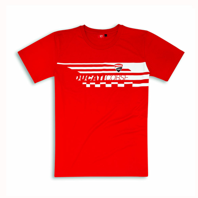 T-shirt Ducati Red Check