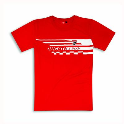 T-shirt Ducati Red Check