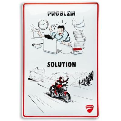Plaque en métal DUCATI / PROBLEM / SOLUTION