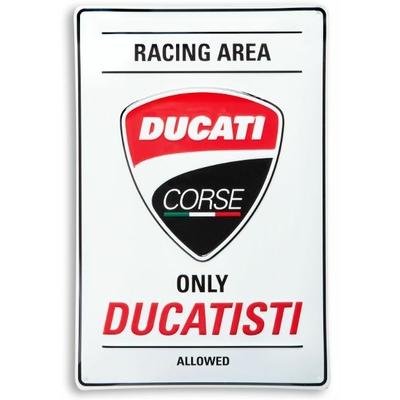 Plaque en métal Ducati Corse