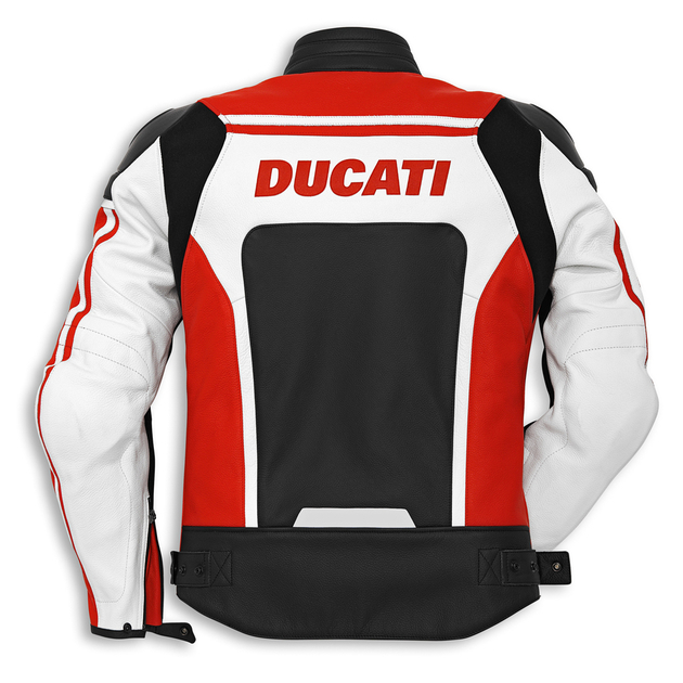 blouson en cuir ducati corse c2 rouge 9810298. Black Bedroom Furniture Sets. Home Design Ideas