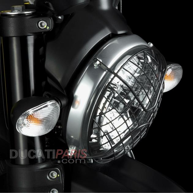 grille de protection phare avant scrambler 97380182a. Black Bedroom Furniture Sets. Home Design Ideas