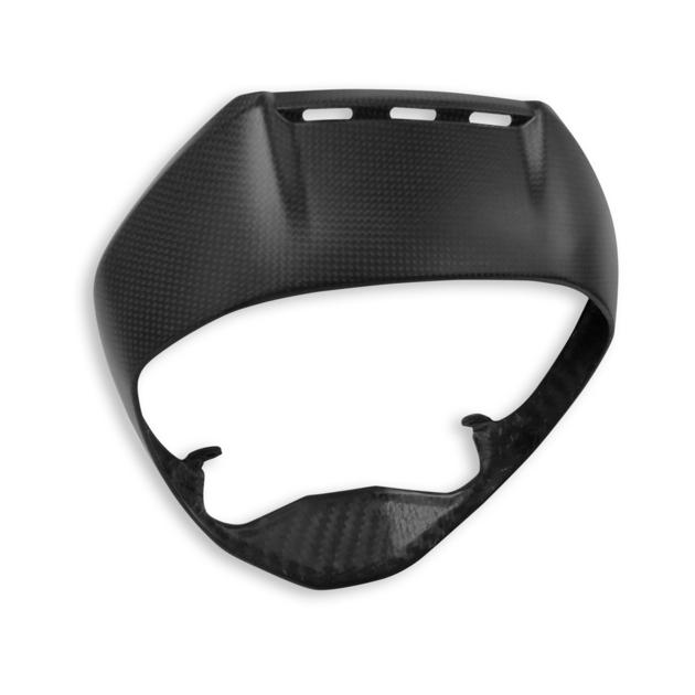Cadre-en-carbone pour-phare-avant-mat-XDiavel