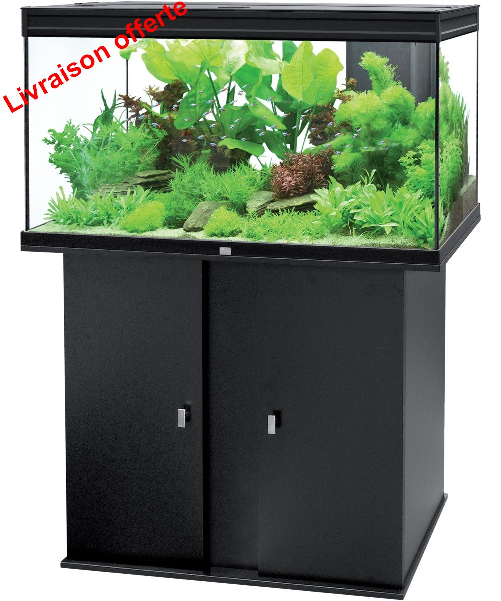 Ensemble aquatlantis aqua meuble elegance plus 118 noir for Boutique aquariophilie
