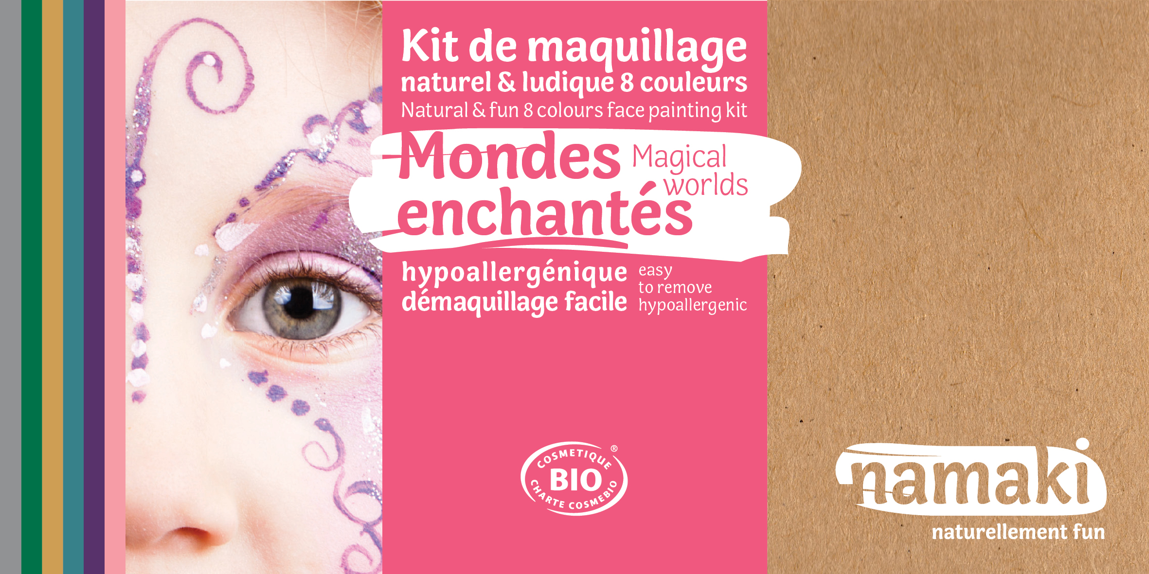 Doux Good - Namaki - kit de maquillage bio 8 couleurs Mondes enchantes