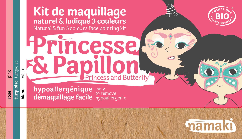 Doux Good - Namaki - kit de maquillage bio 3 couleurs Princesse et Papillon