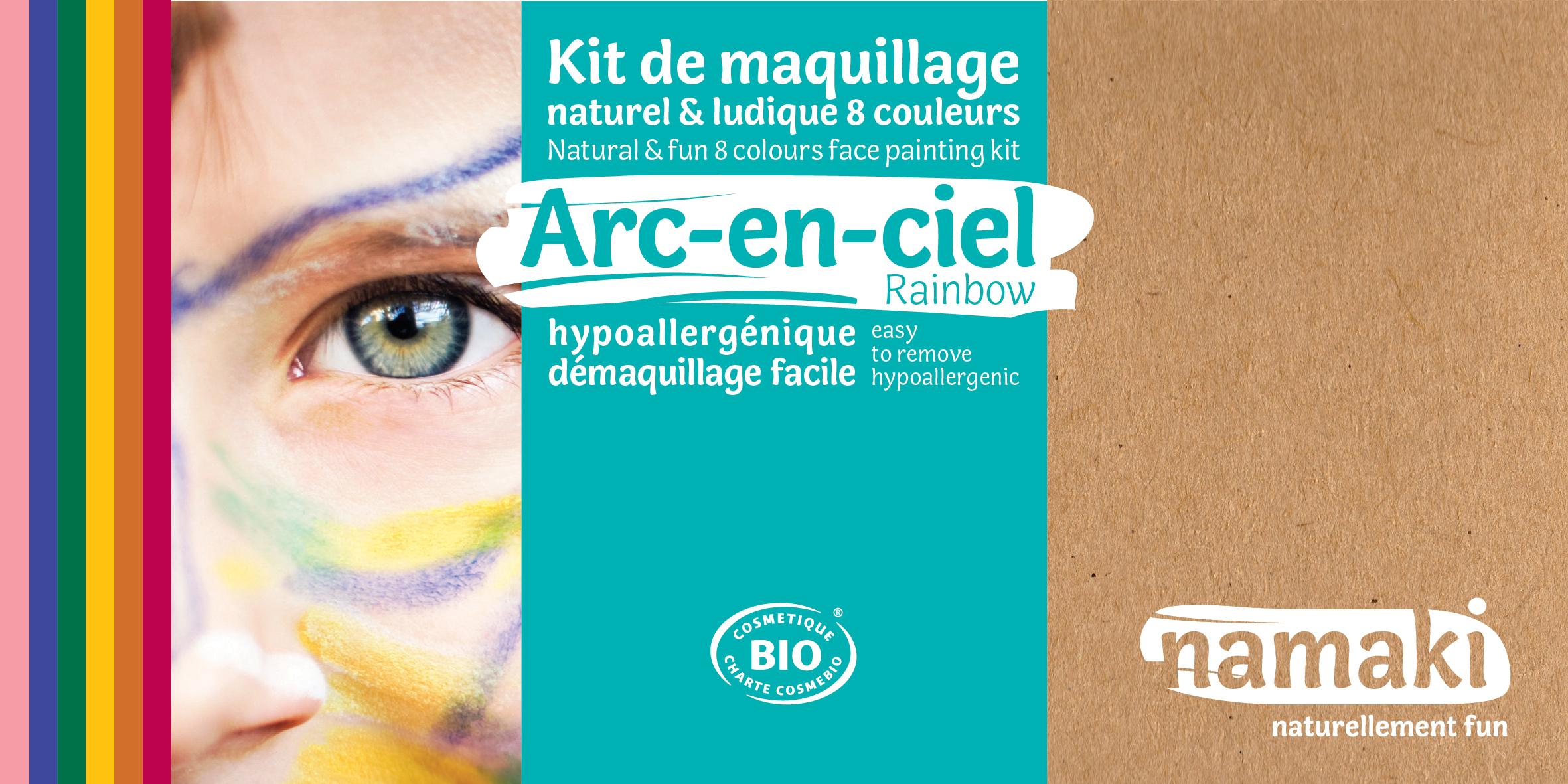 Doux Good - namaki - kit de maquillage bio 8 couleurs Arc-en-ciel