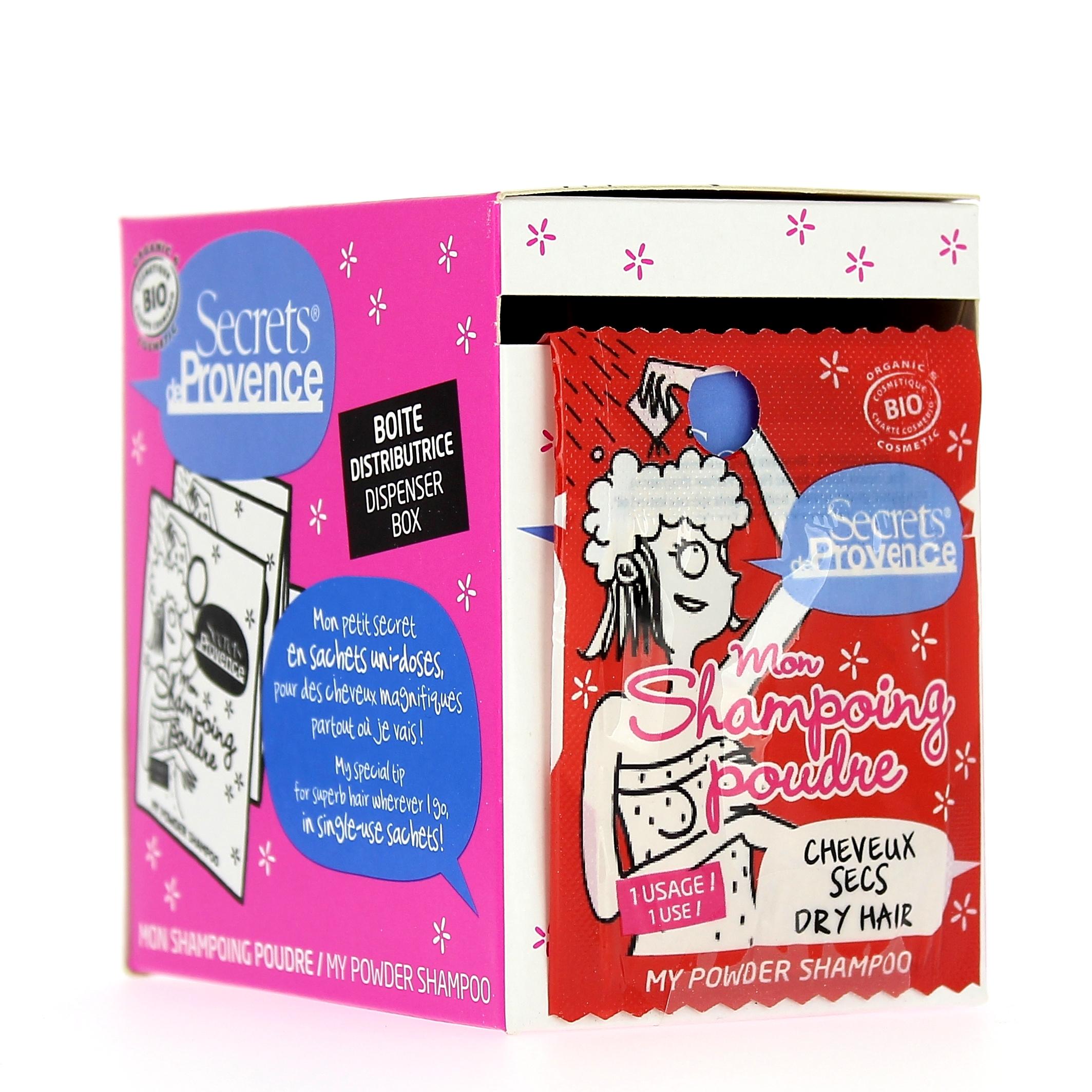 Doux Good - Secrets de Provence - Shampoing en poudre - cheveux secs - 12 sachets uni-doses