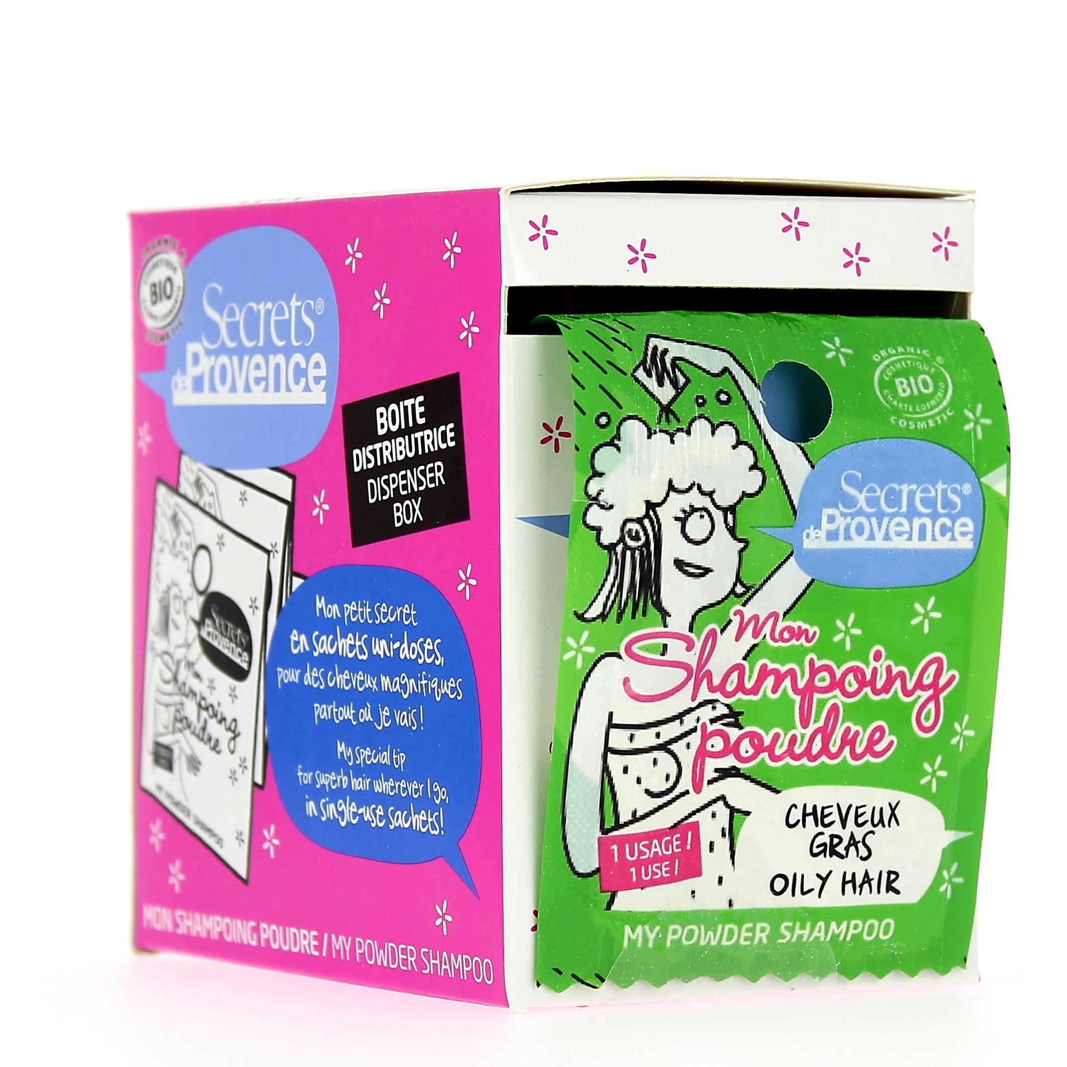 Doux Good - Secrets de Provence - Shampoing en poudre - cheveux gras - 12 sachets uni-doses