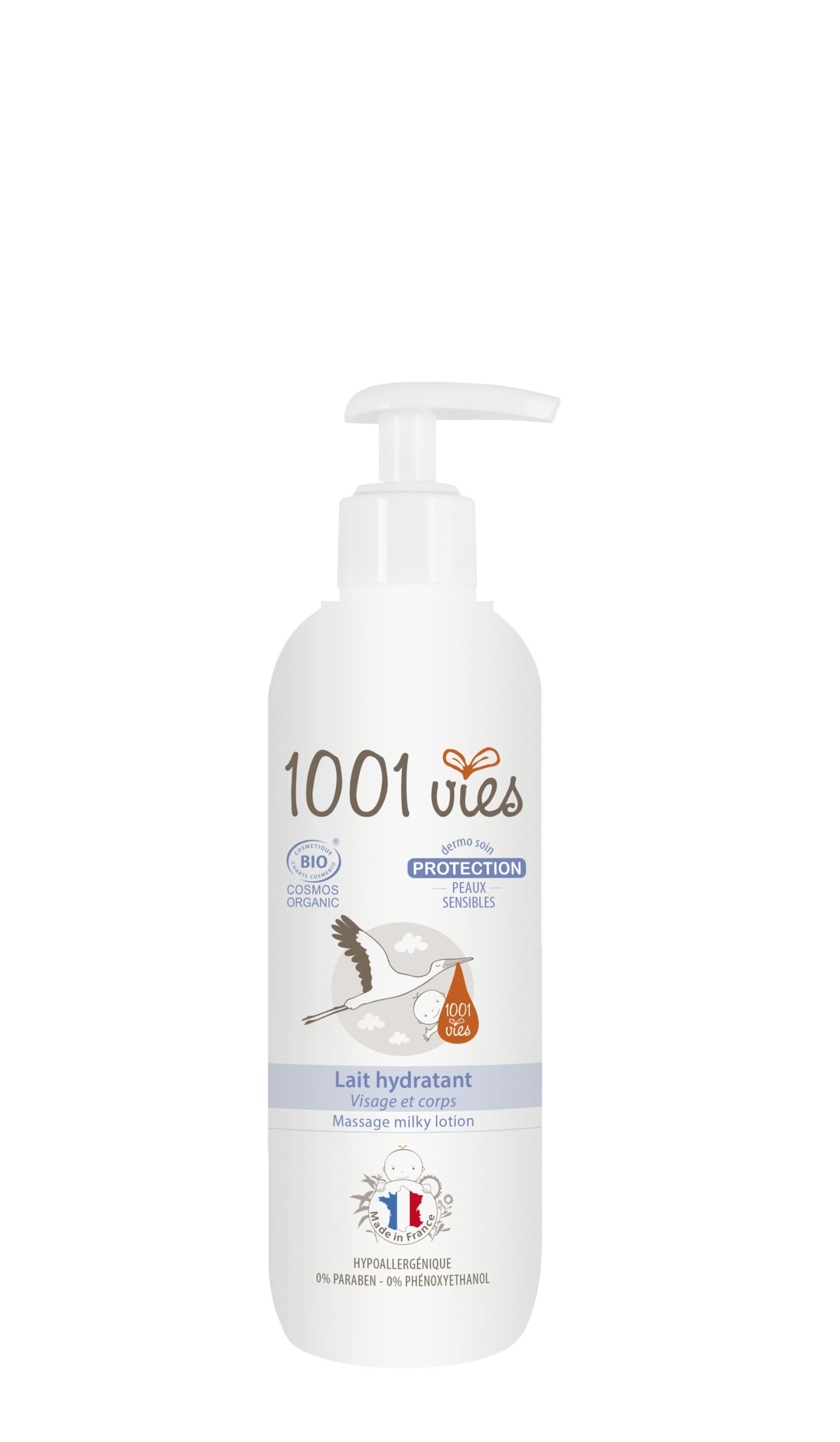 Doux Good - 1001vies - Lait hydratant corps et visage - Gamme protection pour peaux sensibles - 200 ml