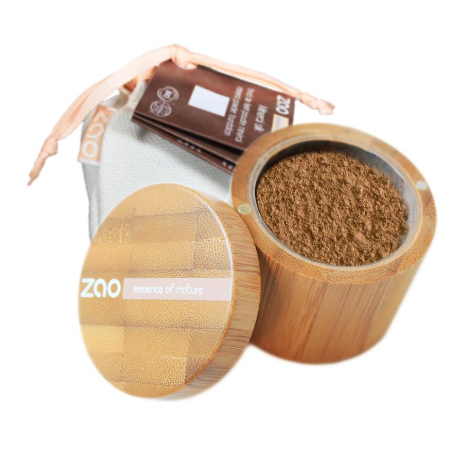 Doux Good - zao make-up - Fond de teint poudre libre minérale - 504 beige neutre