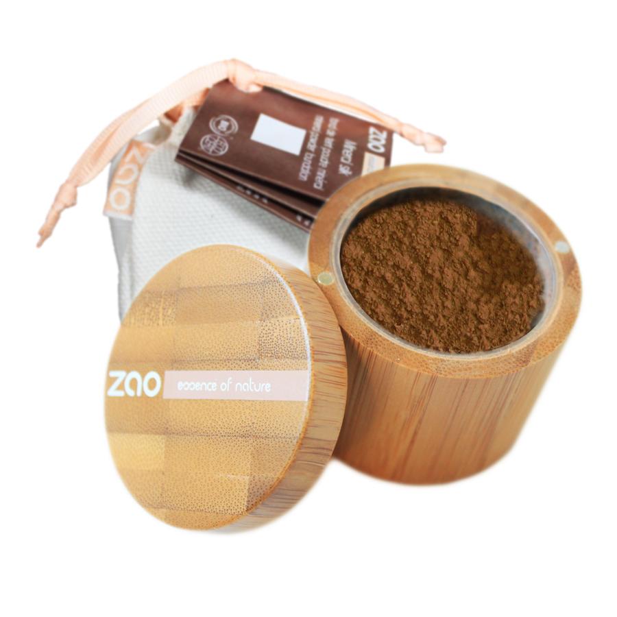 DOUX GOOD - Zao make-up - Fond de teint poudre libre et minérale - 506 beige brun