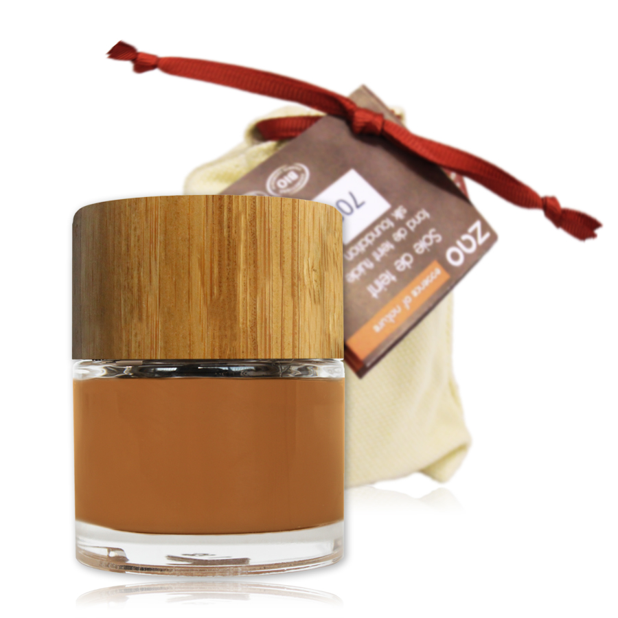 Doux Good - zao make-up - fond de teint - Soie de teint capuccino 705