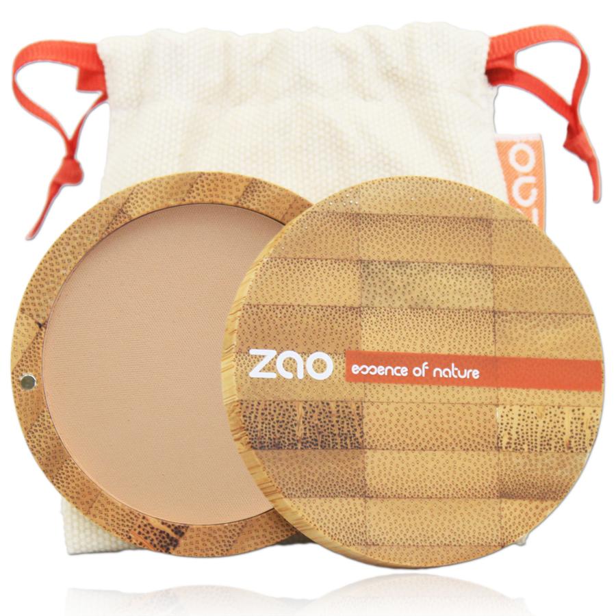 Doux Good - Zao make-Up - poudre compacte - brun beige 303