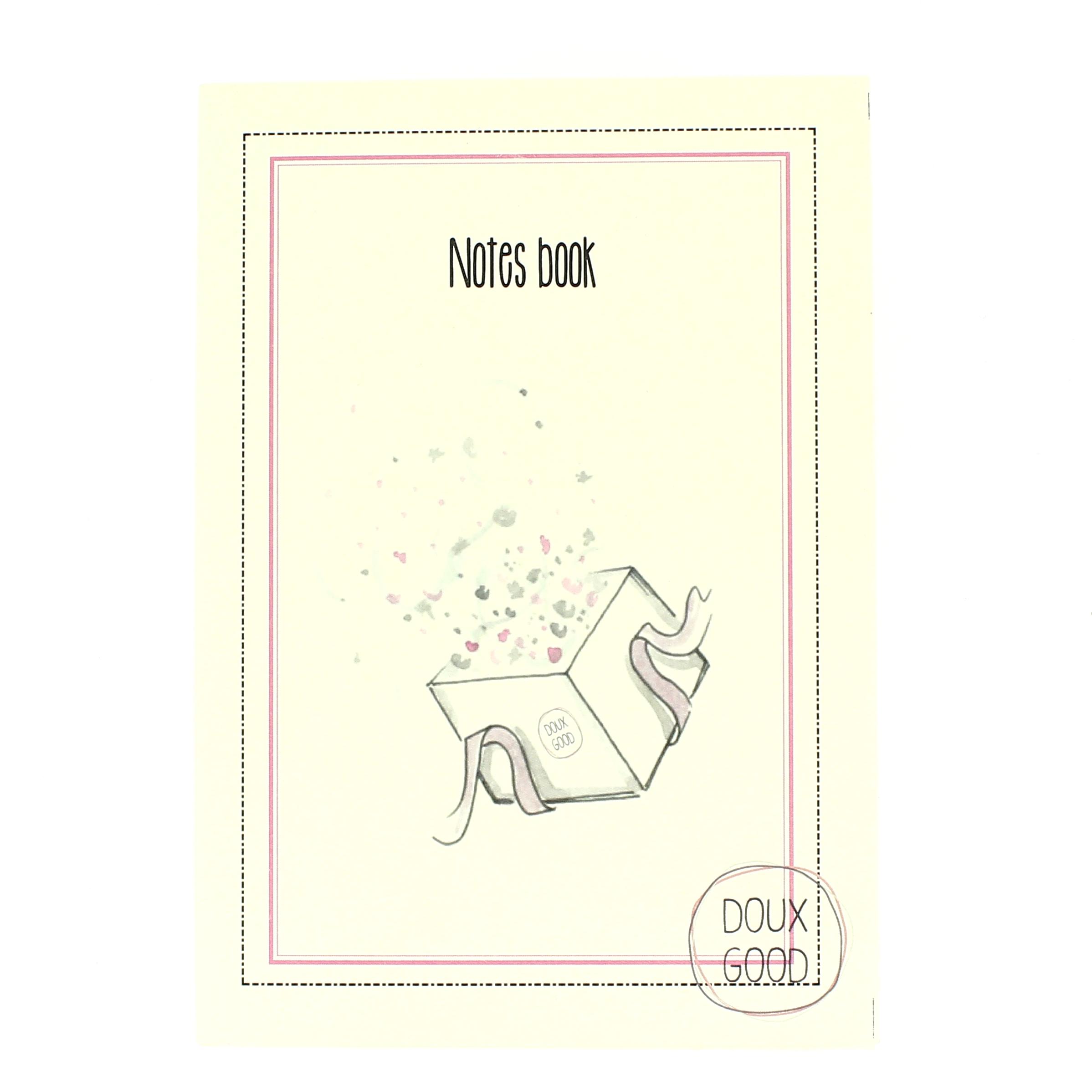 Notes book Doux Good - carnet pour le plaisir d'offrir