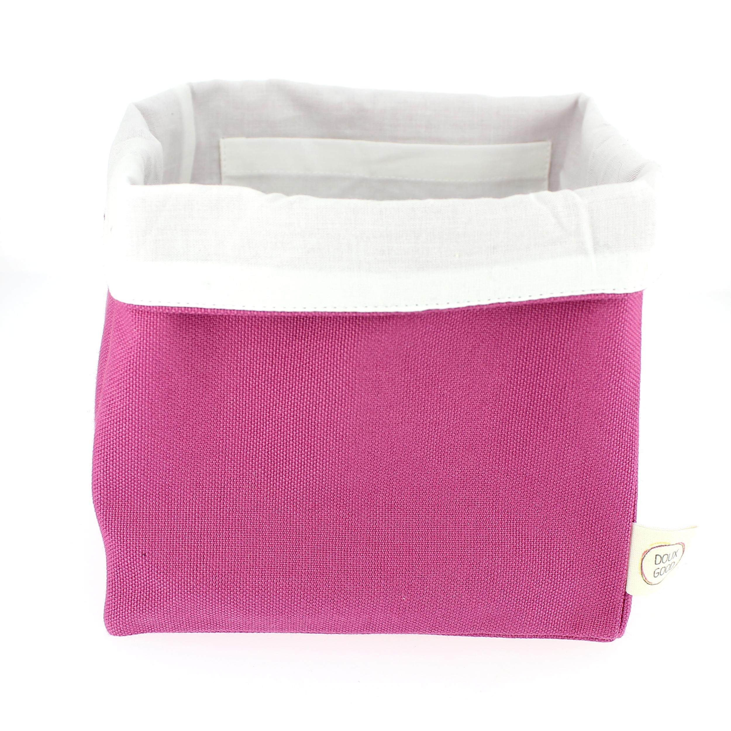 Doux Good - trousse enfant en coton bio - corbeille rose