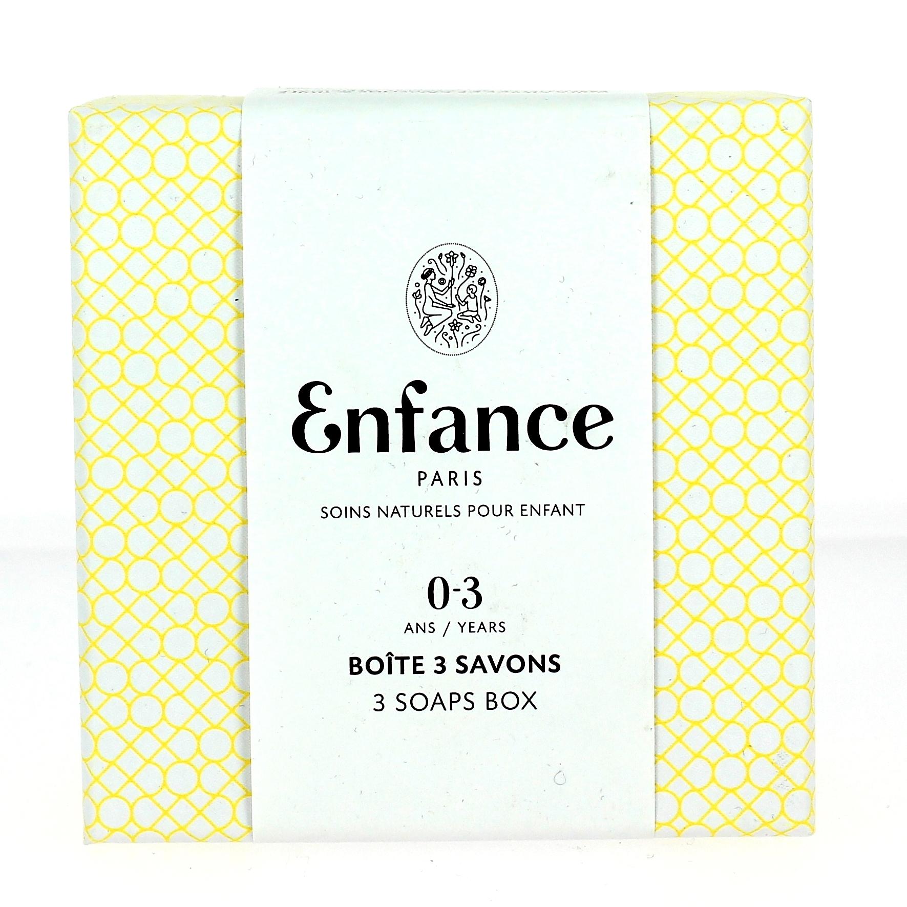 Doux Good - Enfance Paris - savon bébé en coffret de 3 savons