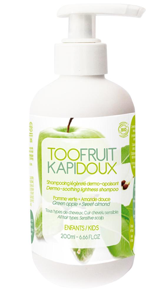 Doux Good - Toofruit - shampoing pour enfant bio - kapidoux pomme amande