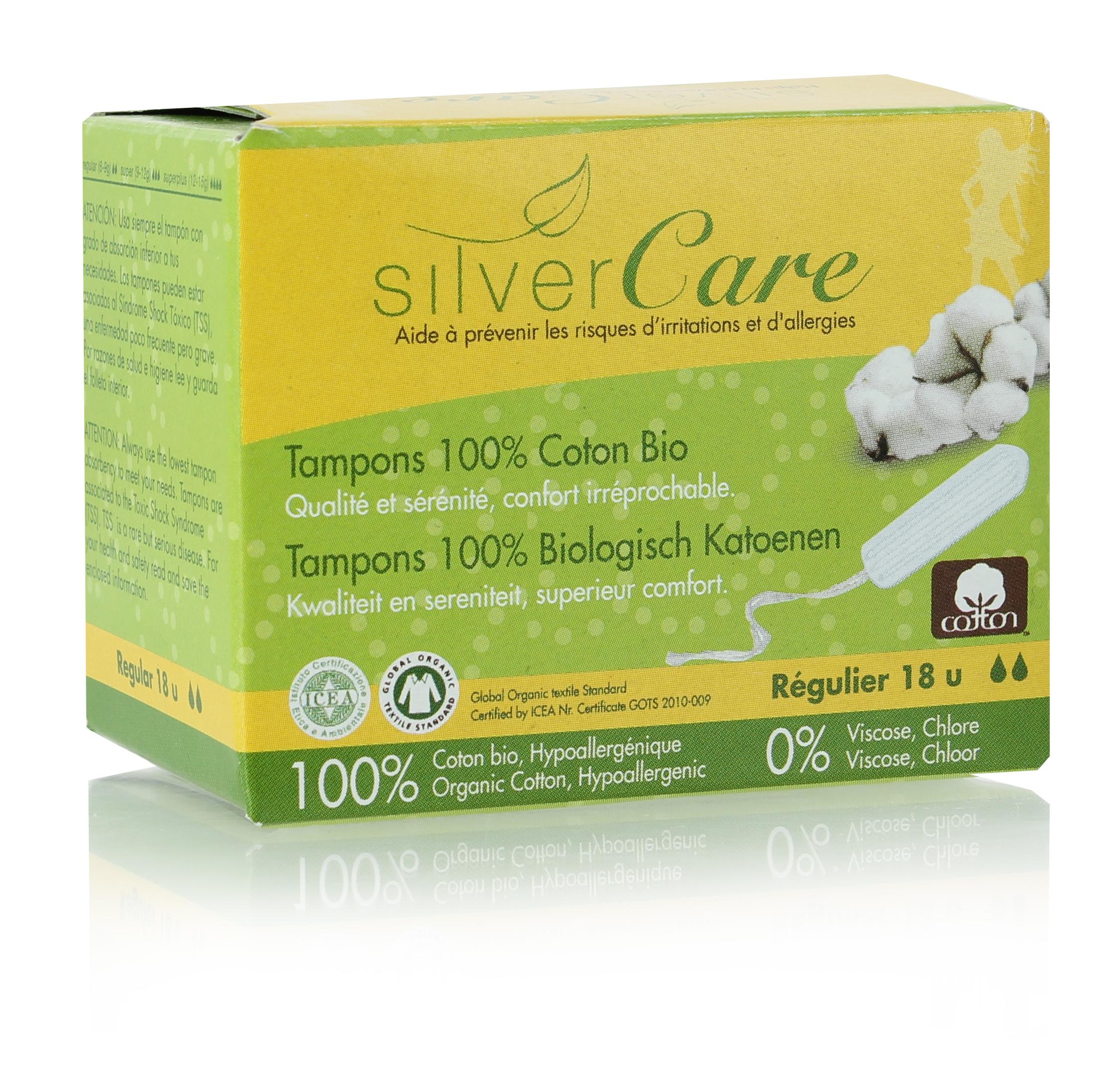 Doux Good - Silvercare - tampon bio régulier sans applicateur