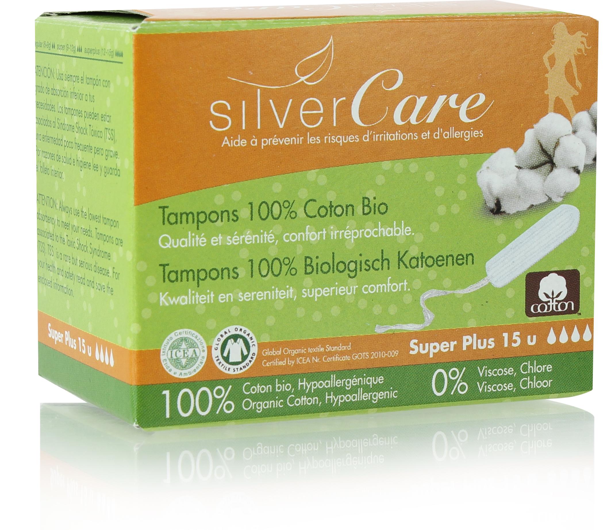 Doux Good - Silvercare - tampon bio  super+ sans applicateur