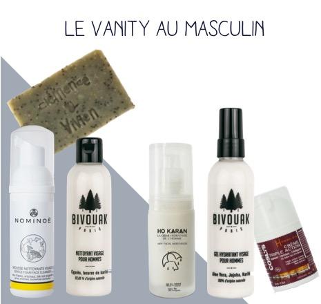 le vanity au masculin