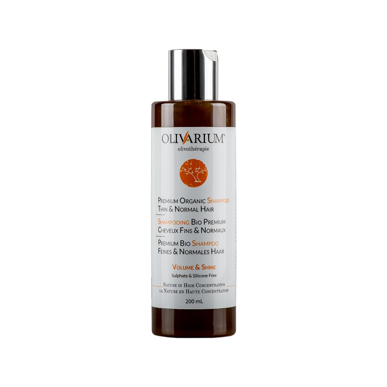shampoing bio premium cheveux fins et normaux 200 ml olivarium. Black Bedroom Furniture Sets. Home Design Ideas