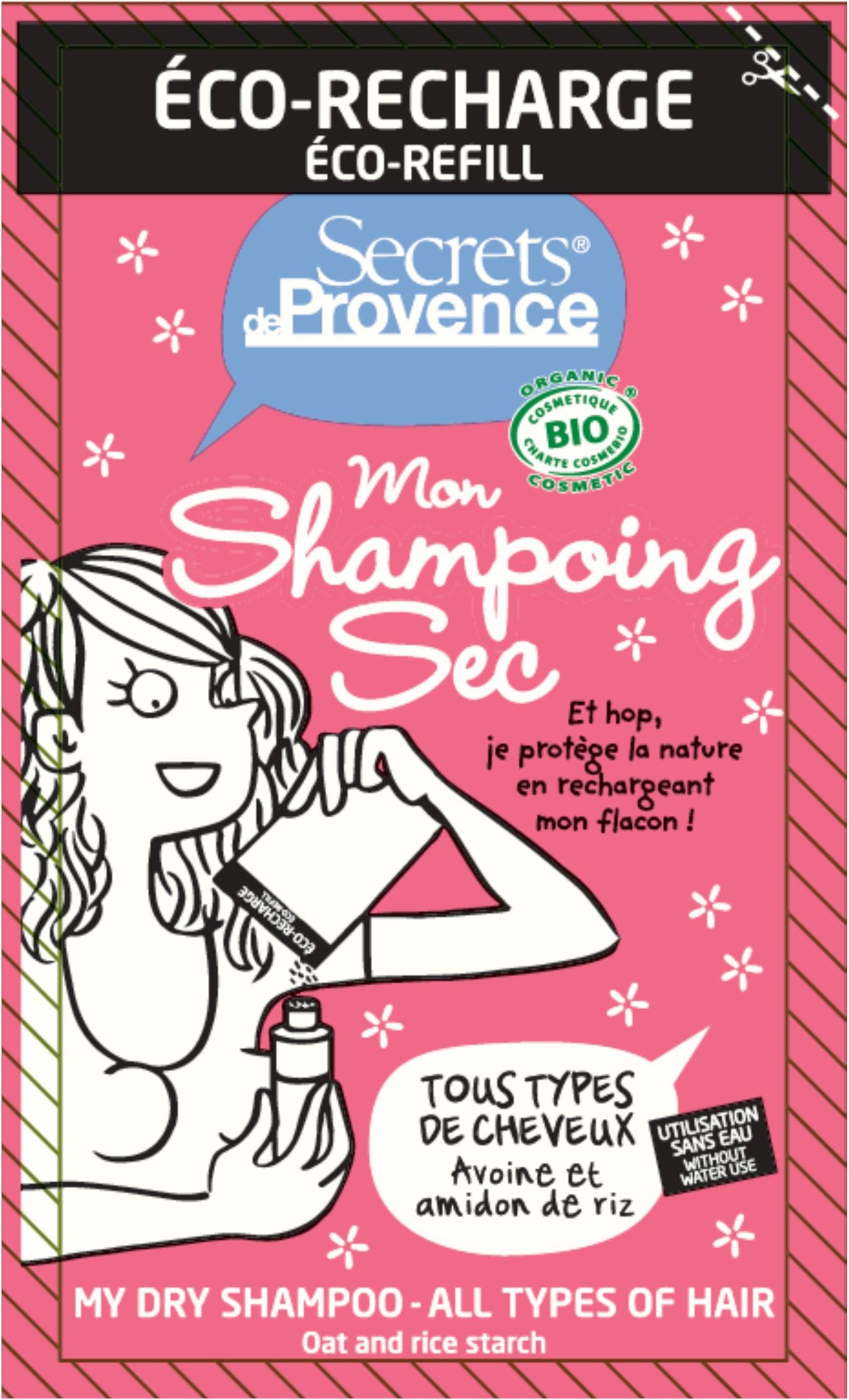 Eco-recharge Shampoing sec Secrets de provence