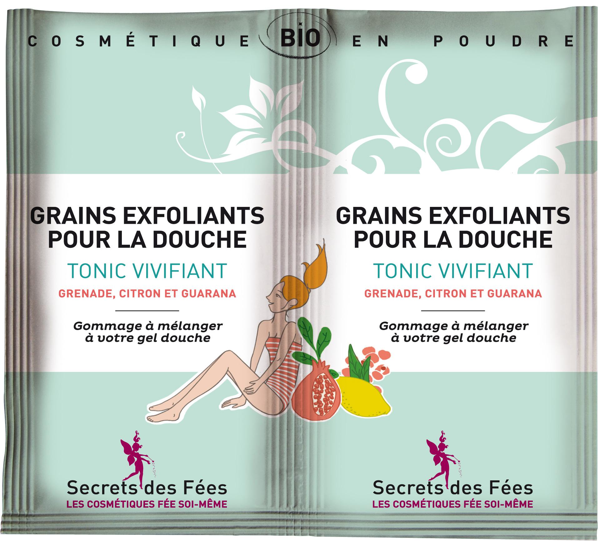 Secrets des Fées - grains-exfoliants-tonic-vivifiant