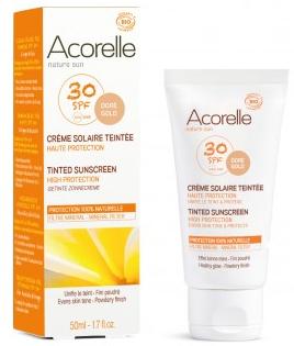 Acorelle-crème-solaire-teintée-doré-SPF30