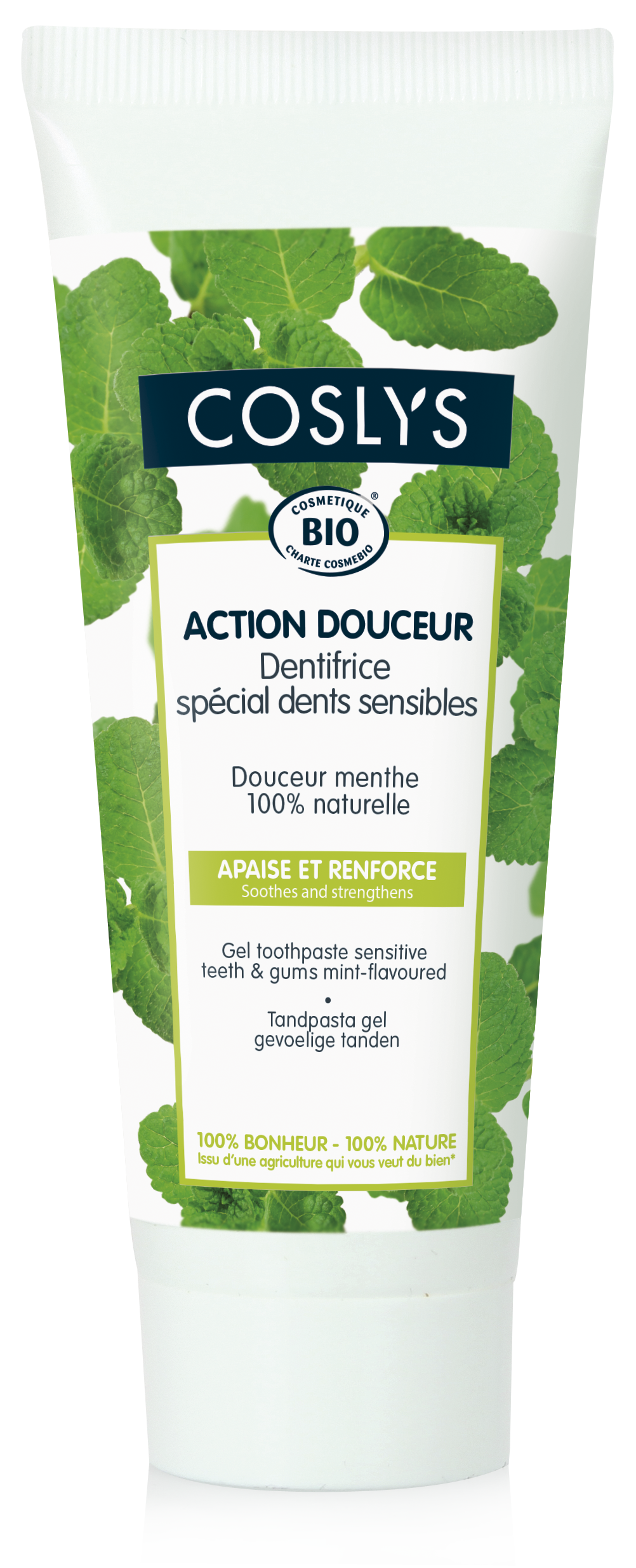 Coslys-Action douceur-dentifrice dents sensibles-gel-dentifrice-75ml