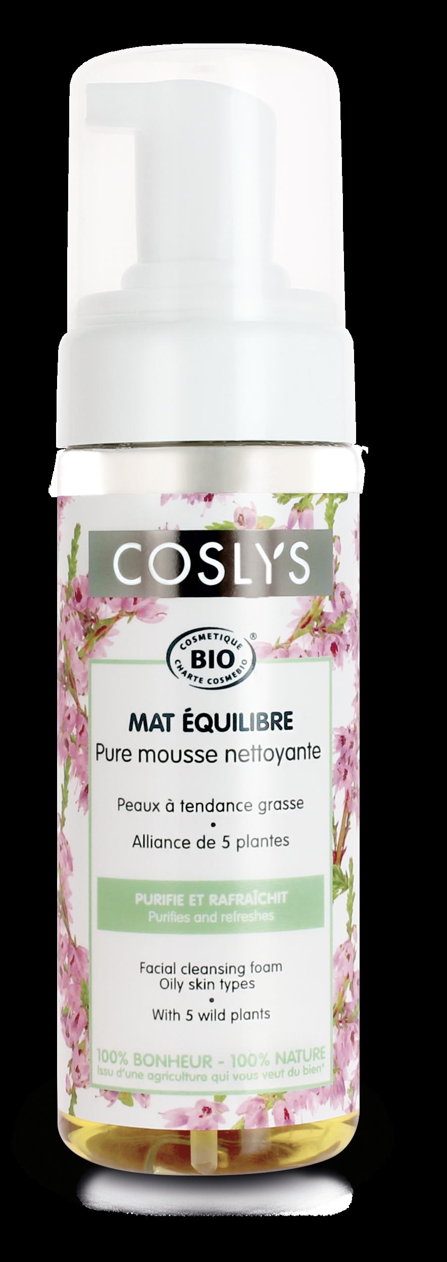 Coslys-mat équilibre-pure mousse nettoyante 150ml