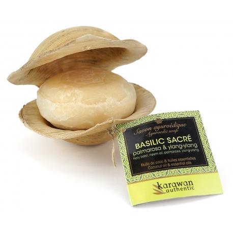 savon-ayurvedique-basilic-sacre-100g