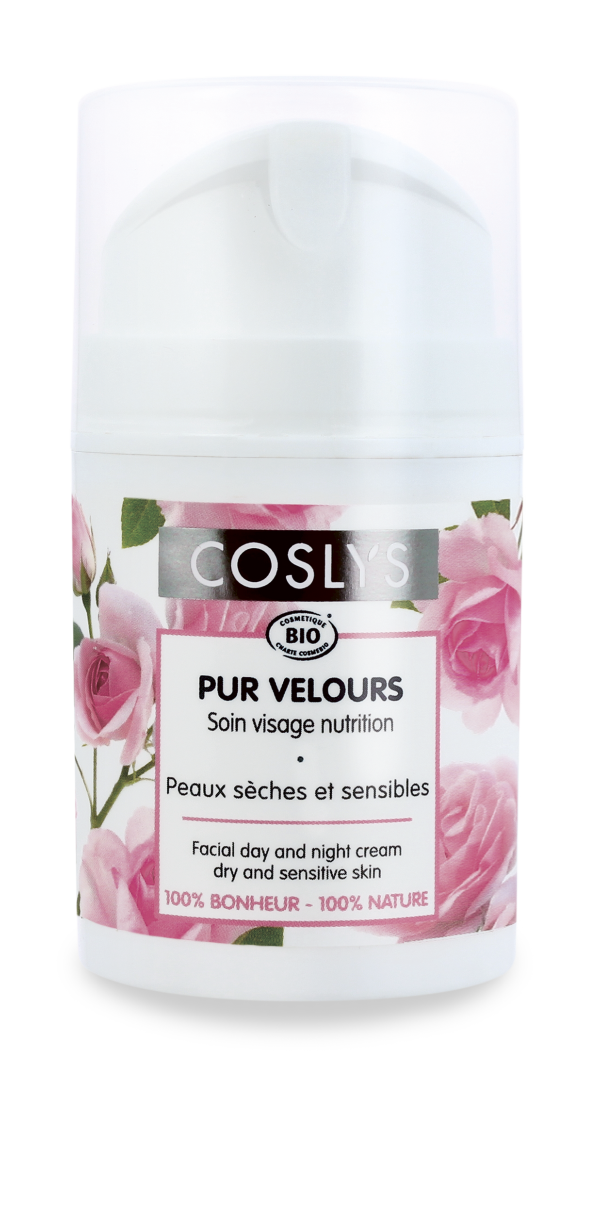 Coslys-Pur velours-soin nutrition visage peaux sensibles
