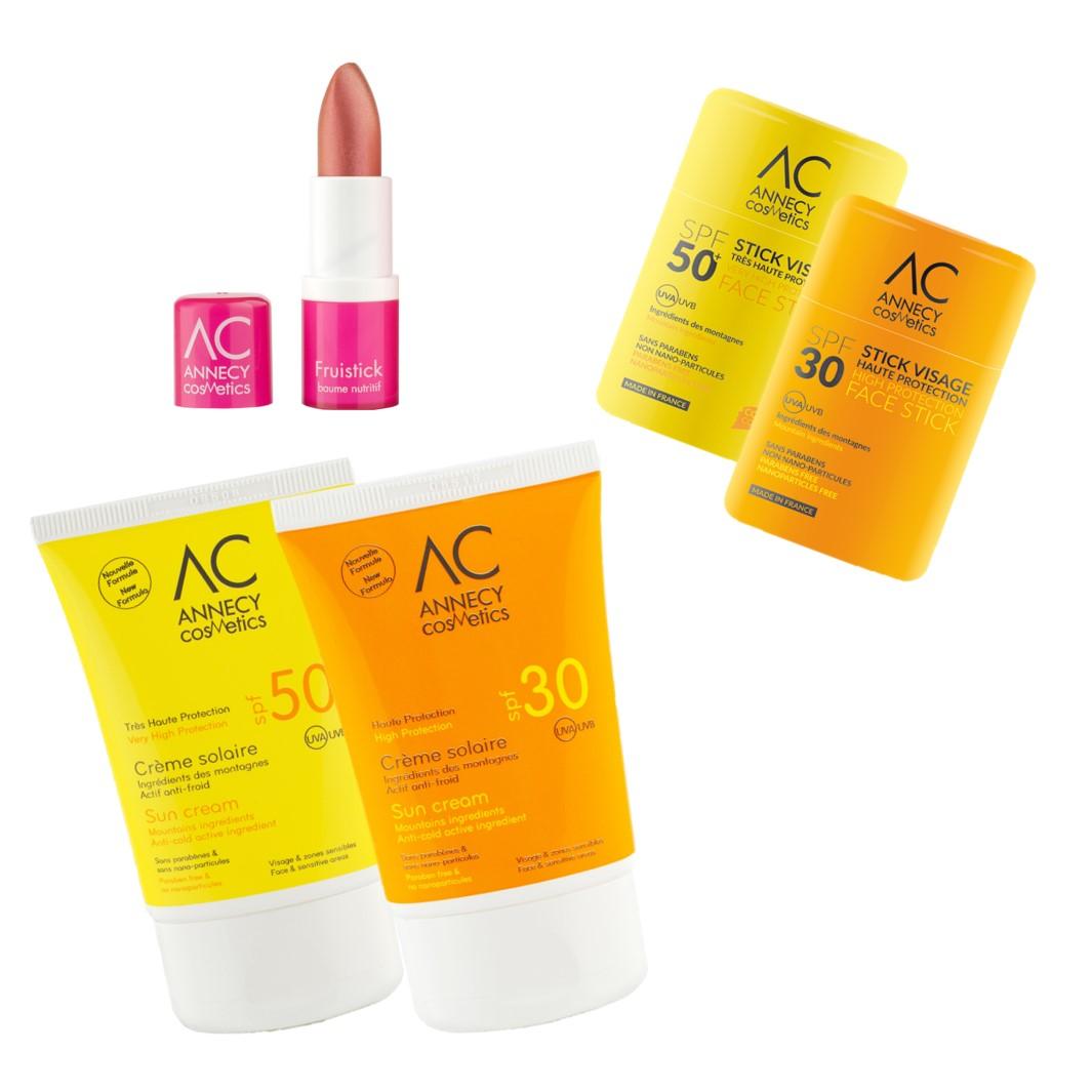 Tous sur les pistes avec Annecy Cosmetics - 2 solaires au choix et un stick  lèvres. Chargement du zoom b34b537487fe
