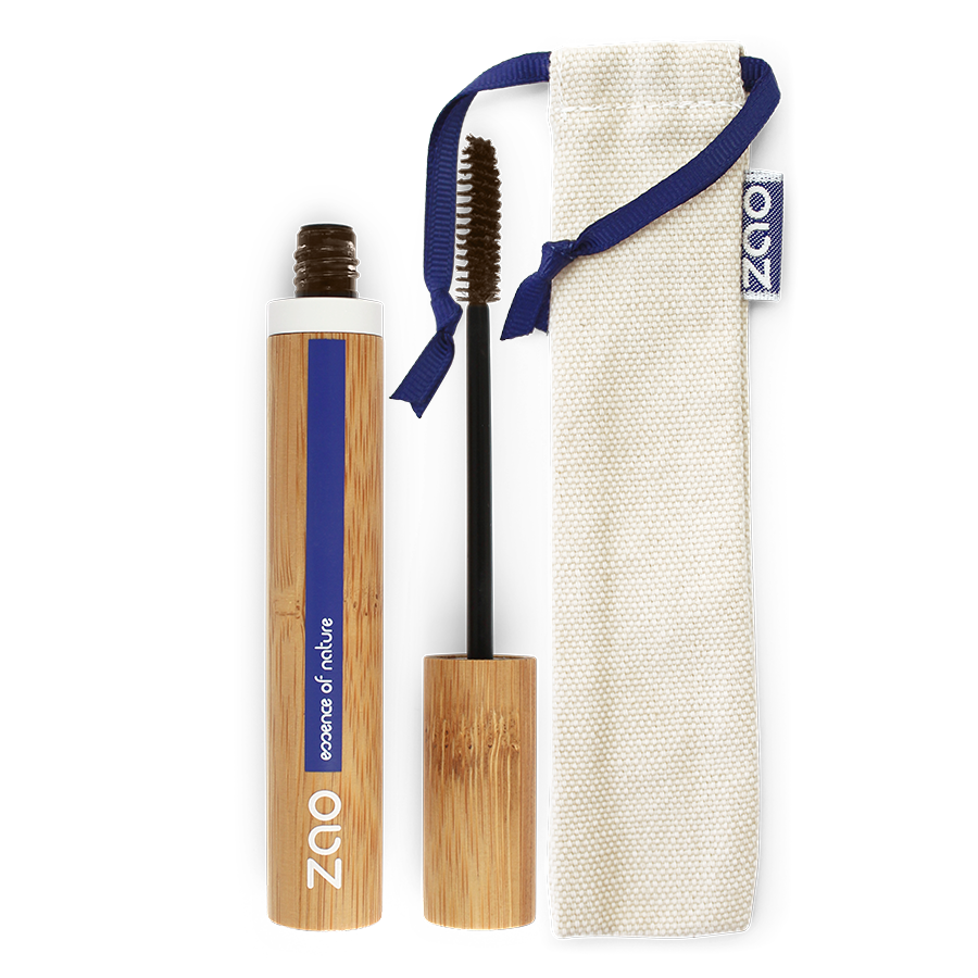 Zao Makeup- mascara Aloé Véra brun foncé 091