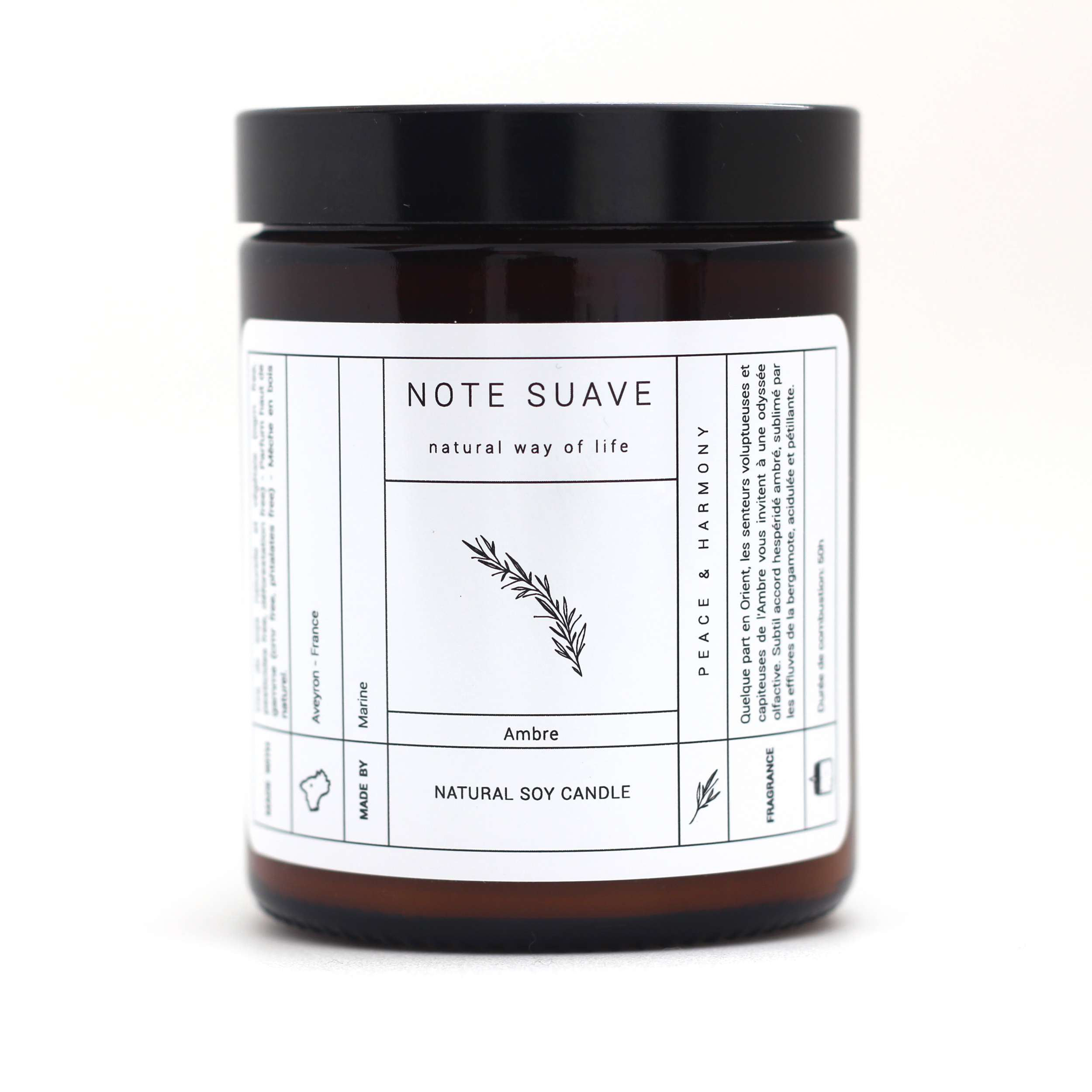 Apothicaire - Bougie-naturelle-madeinFrance-Note suave