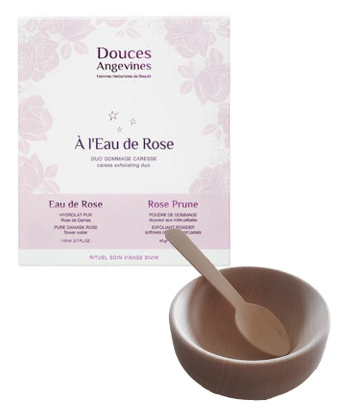 Douces Angevines - Duo Coffret eau de Rose et bol en bois