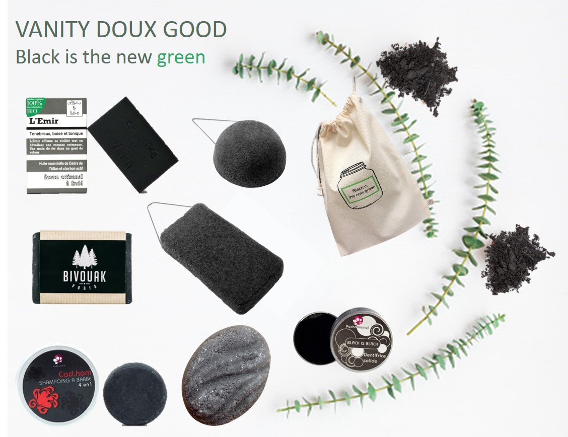 Vanity Doux Good au charbon végétal - Black is the new green