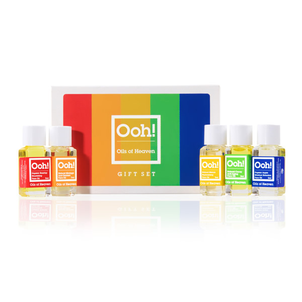 ooh-oils-of-heaven-gift-set-5 huiles visage biox5ml