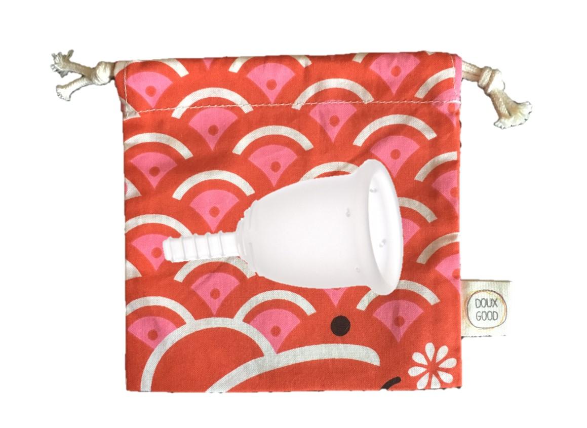 Coupe menstuelle - Cup Fleurcup - pochette Doux Good - petite taille