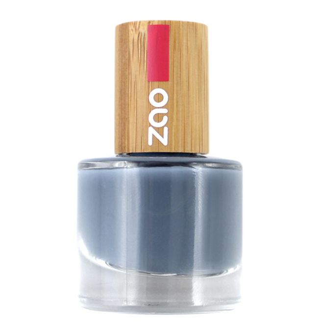 ZAO-vernis à ongles bleu gris 670